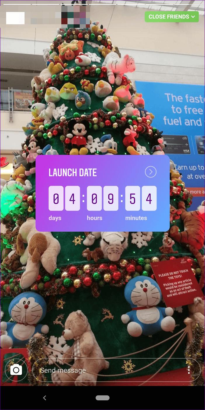 instagram countdown sticker