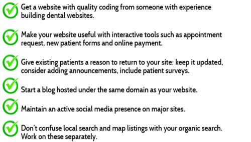 Dental Website do's