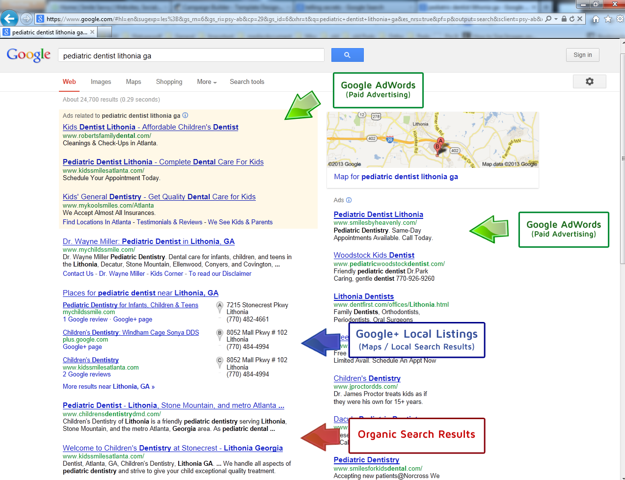 Understanding Your Search Engine Results Page