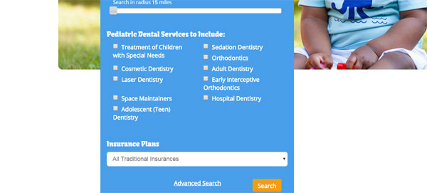 Search for a pediatric dentist in your area